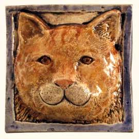 Cat Tiles Relief Custom Hand Painted Handmade