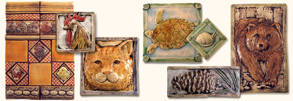 Decorative Ceramic Relief Animal Art Tile For Kitchen