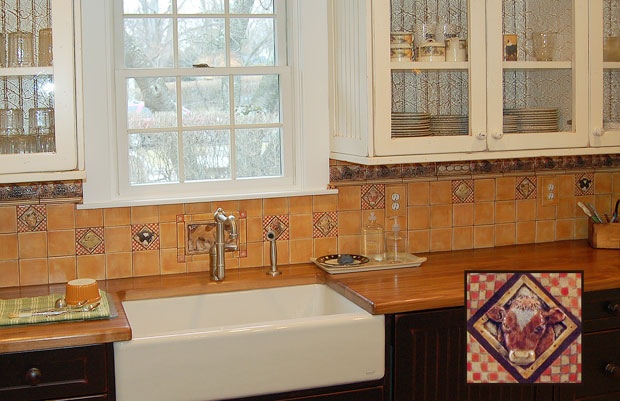 Wall Tiles - Wine Country Kitchen Backsplash Tile Mural