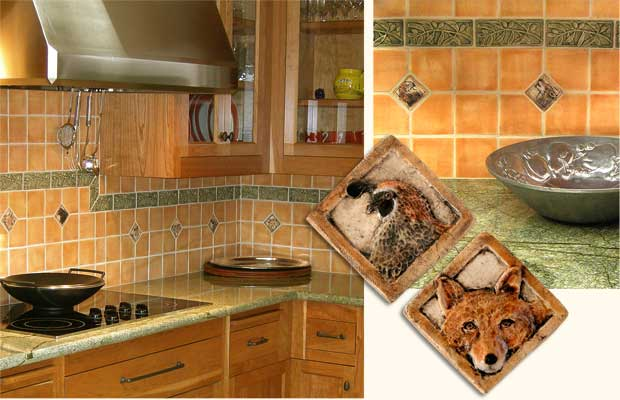 Kitchen Tiles Handmade bathroom and kitchen backsplash tile installation, handmade